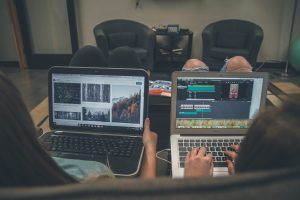 Couple taking Online Workshop